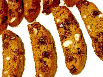 Chocolate Almond Bran Biscotti
