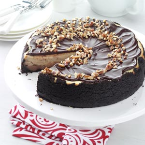 Chocolate Glazed Cheesecake