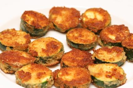 Fried Zucchini and Cucumber Dip