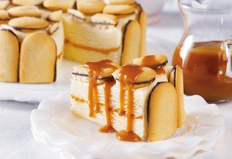 Cookie & Caramel Ice Cream Cake